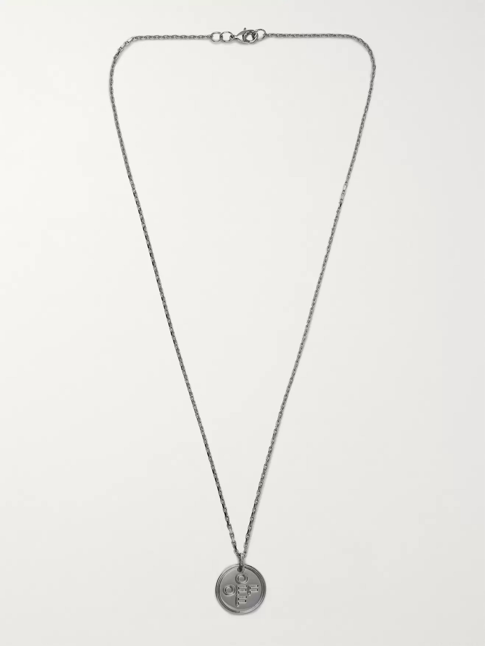Off-White Silver-Tone Necklace