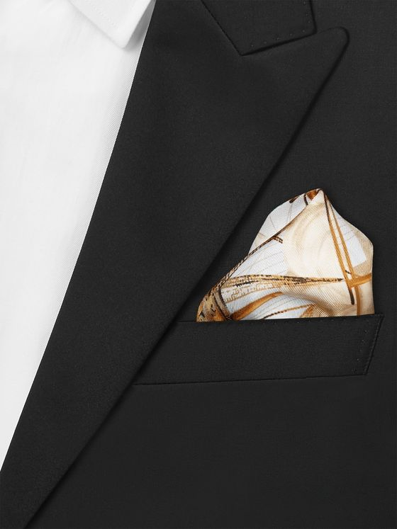 Rubinacci Victory Printed Silk-Twill Pocket Square