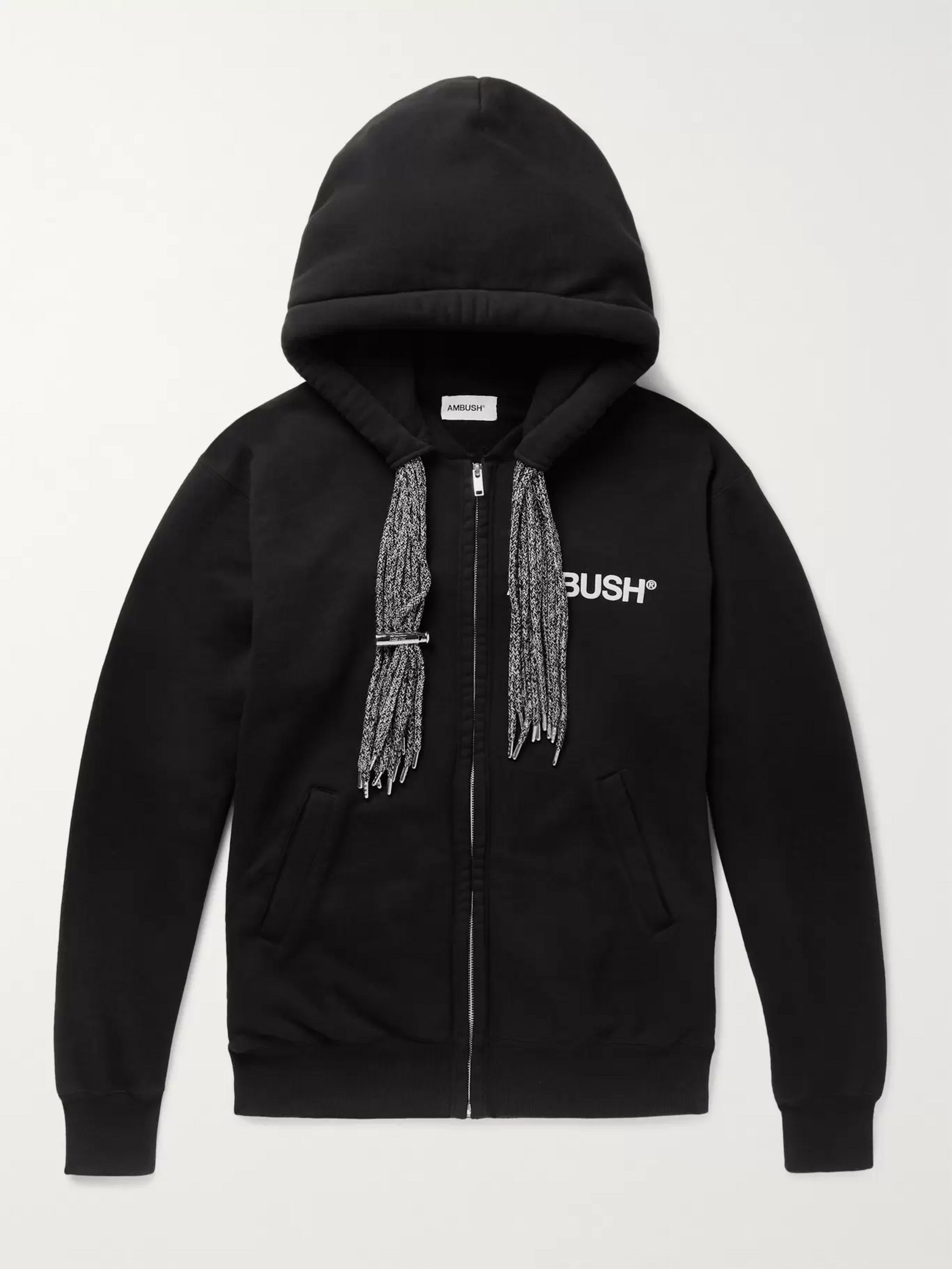 AMBUSH® Logo-Print Loopback Cotton-Jersey Zip-Up Hoodie
