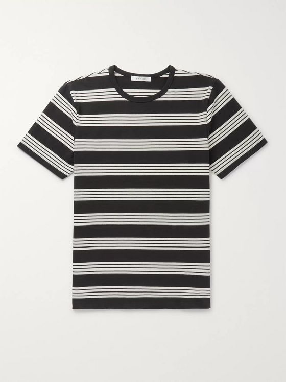 FRAME Slim-Fit Striped Cotton-Jersey T-Shirt