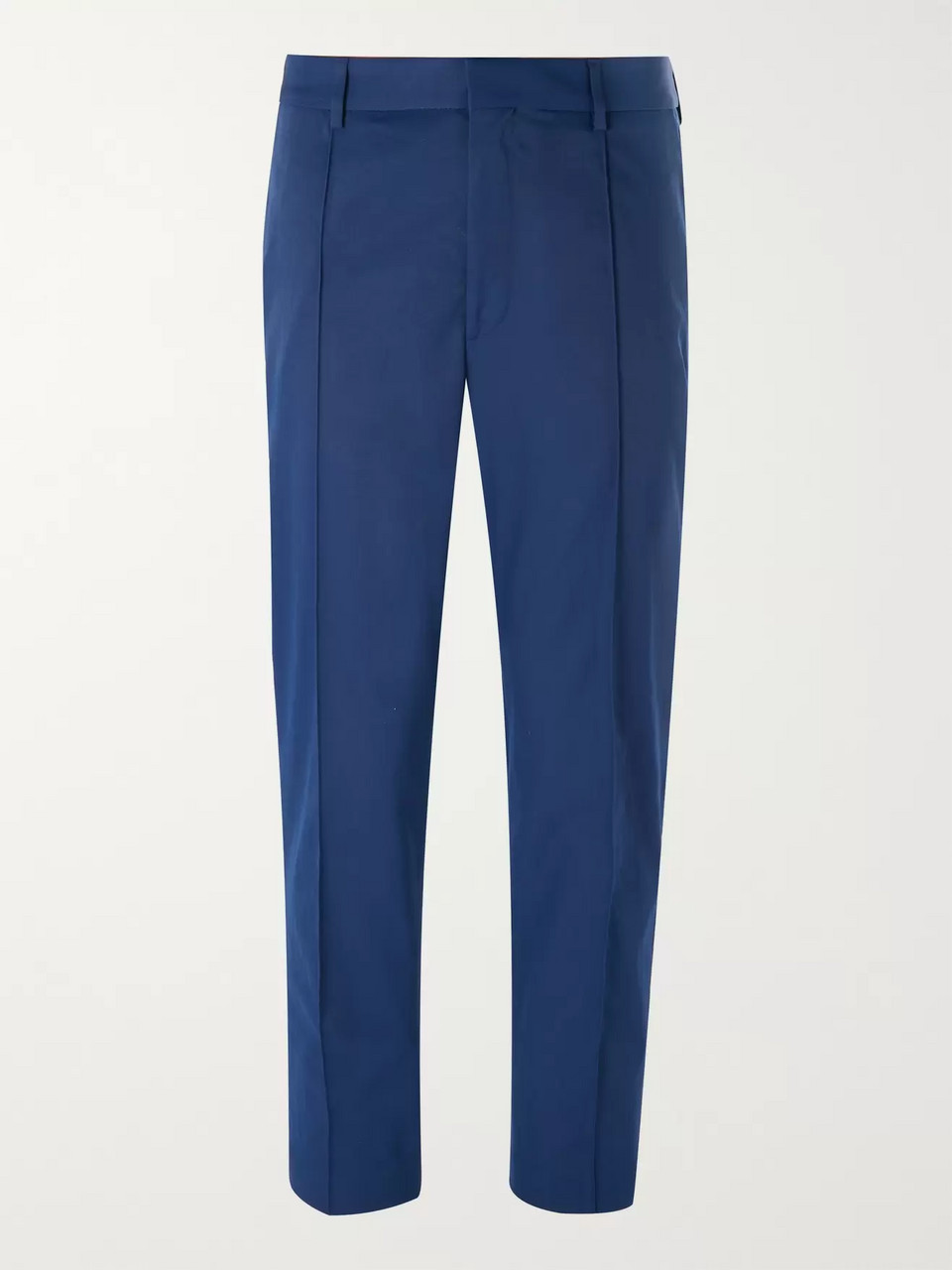 Hugo Boss Blue Paco Cropped Slim-Fit Twill Trousers
