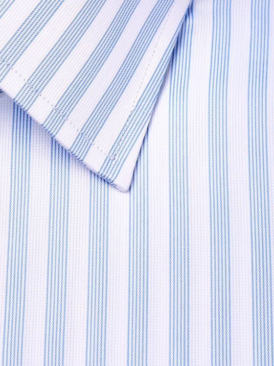 TOM FORD Light-Blue Slim-Fit Striped Cotton Shirt