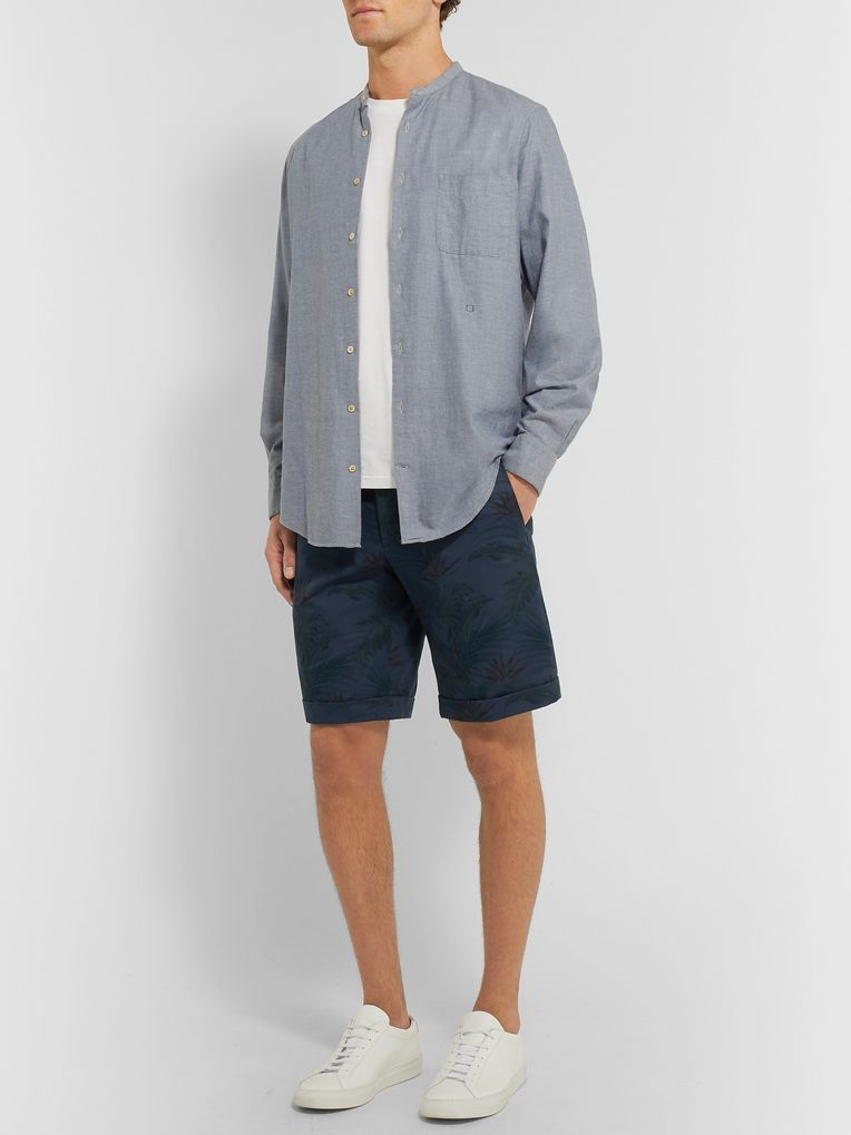 Zanella Slim-Fit Printed Cotton-Twill Shorts