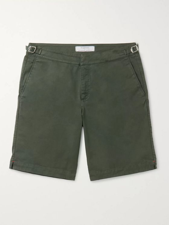 Kingsman + Orlebar Brown Dane Slim-Fit Cotton-Blend Twill Shorts