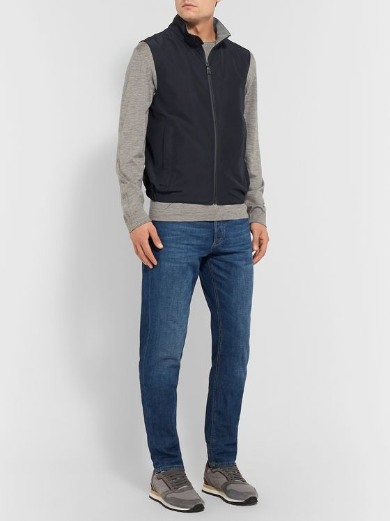 Canali Slim-Fit Shell Gilet