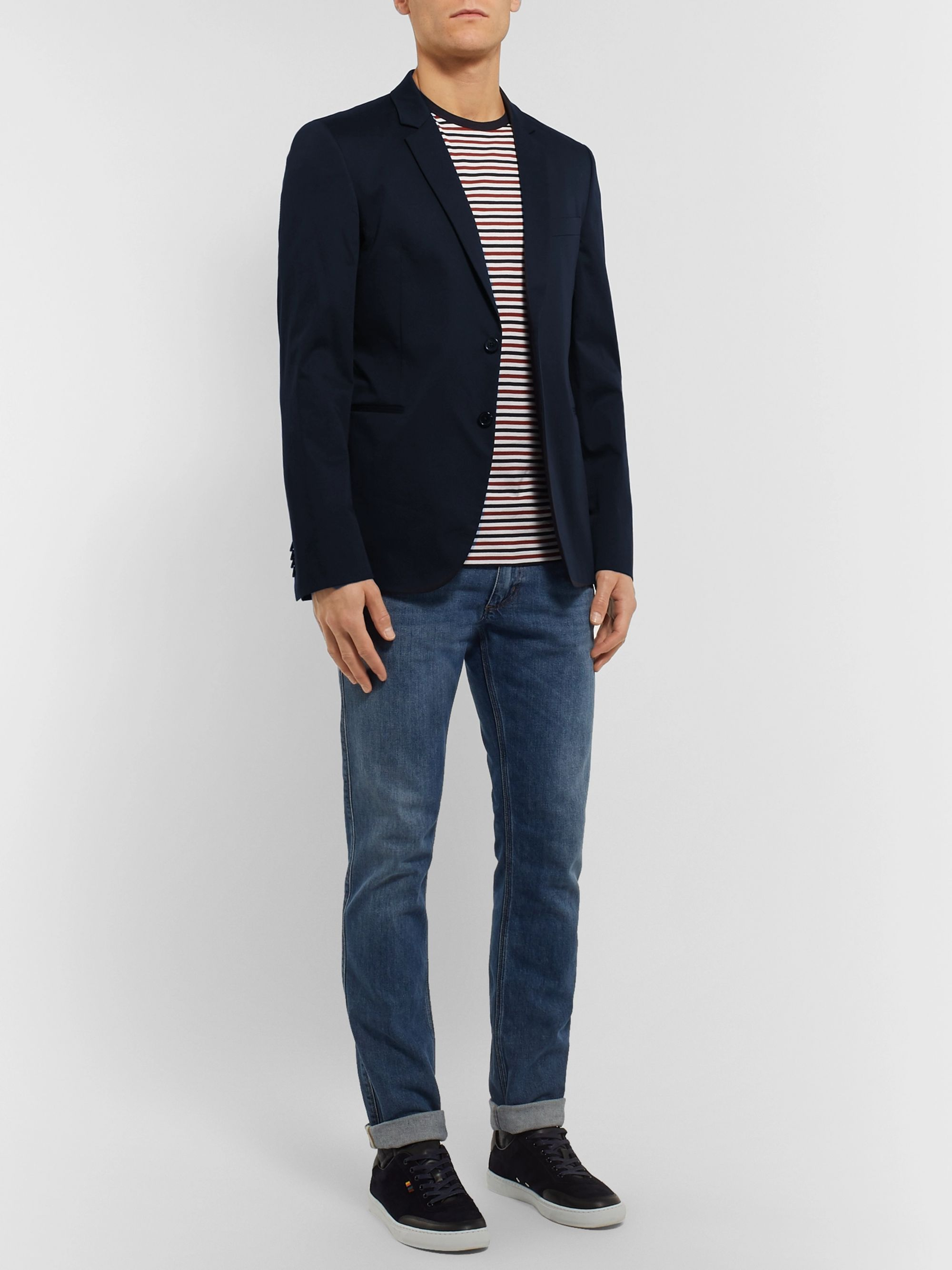 PS Paul Smith Navy Cotton-Blend Suit Jacket