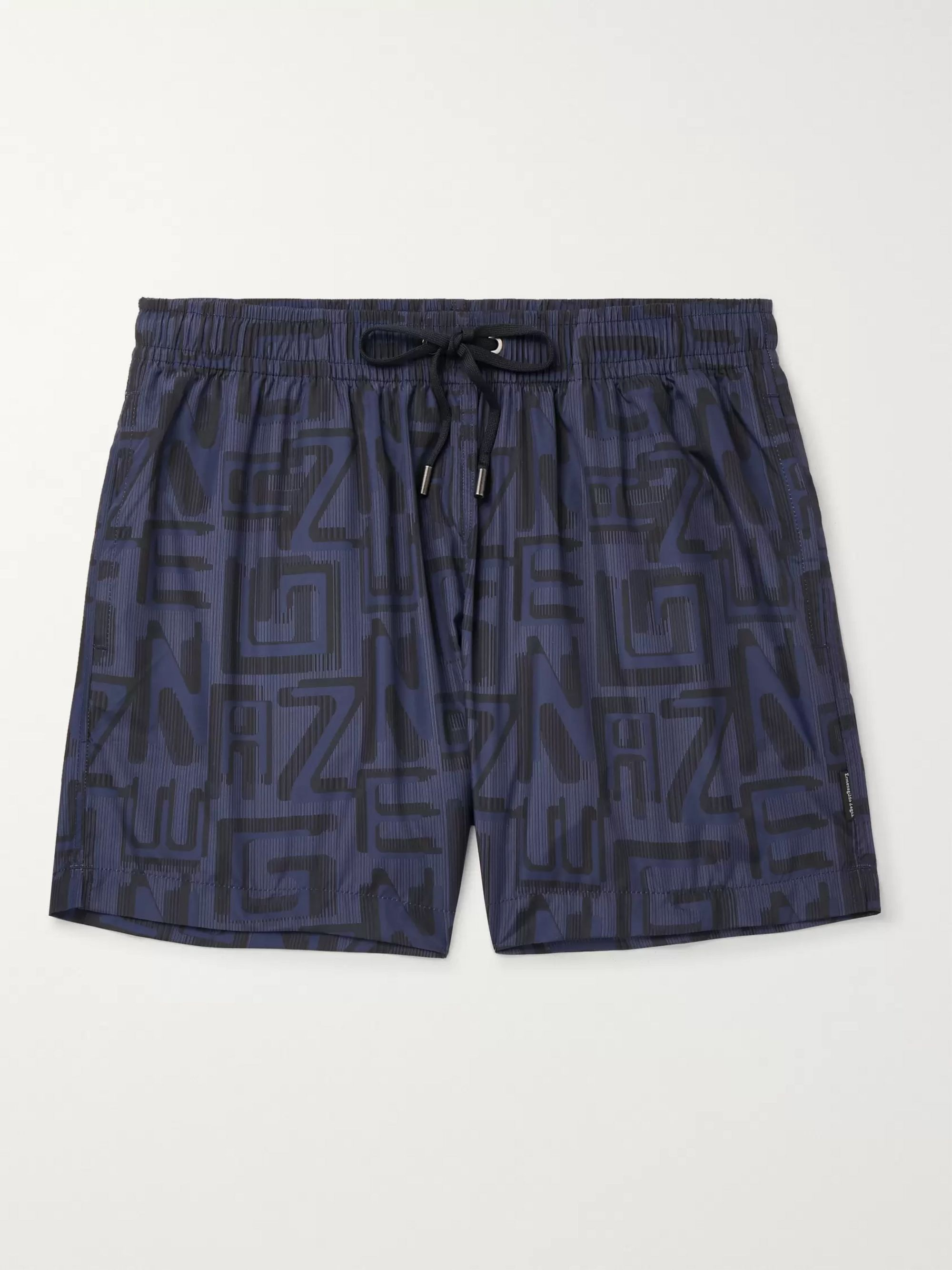 Ermenegildo Zegna Mid-Length Printed Swim Shorts