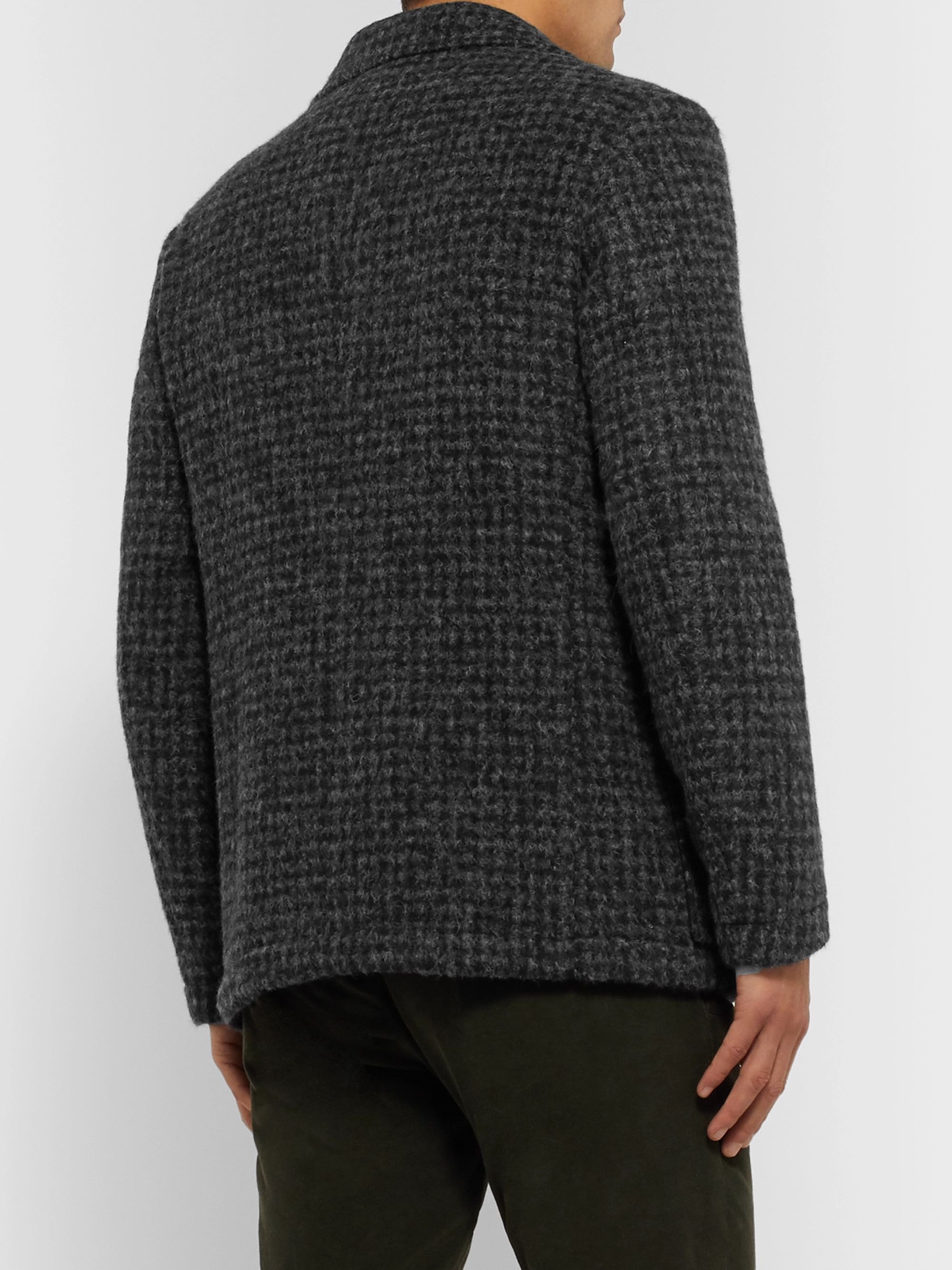 MP Massimo Piombo Klee Houndstooth Alpaca-Blend Jacket
