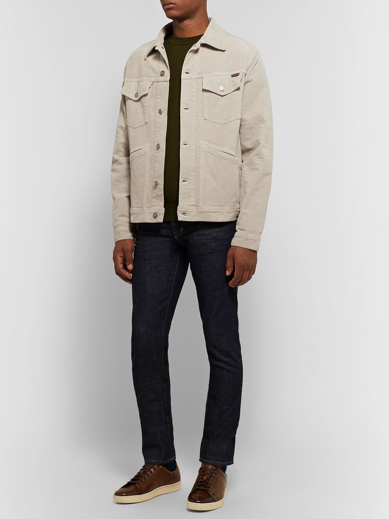 TOM FORD Cotton-Blend Corduroy Trucker Jacket