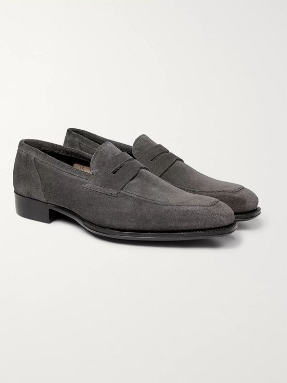 Kingsman + George Cleverley Suede Penny Loafers