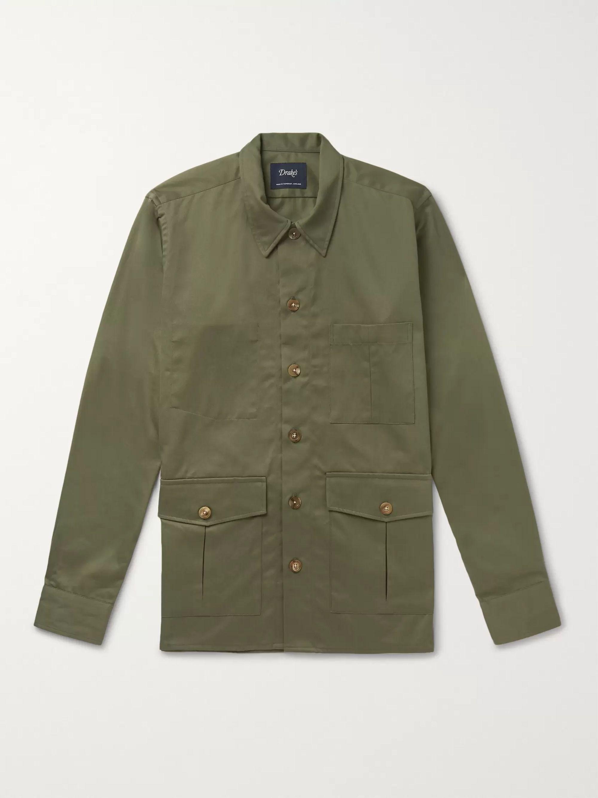 4cdfb71e1 Cotton-Twill Shirt Jacket