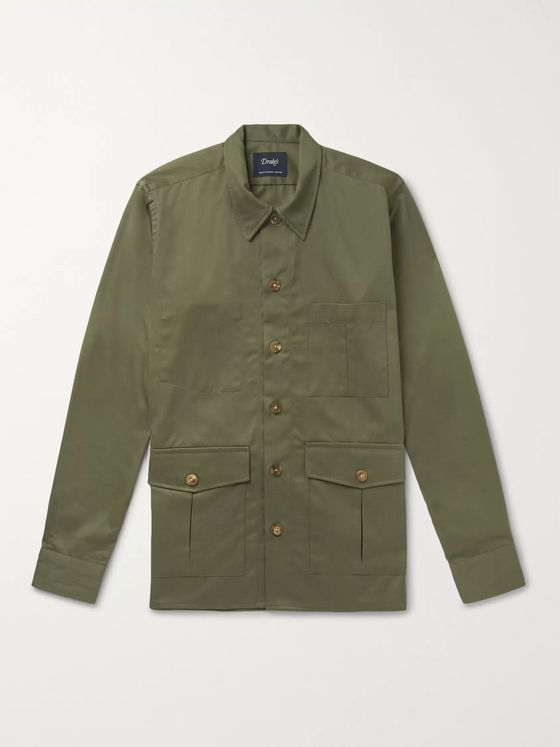 Drake's Cotton-Twill Shirt Jacket