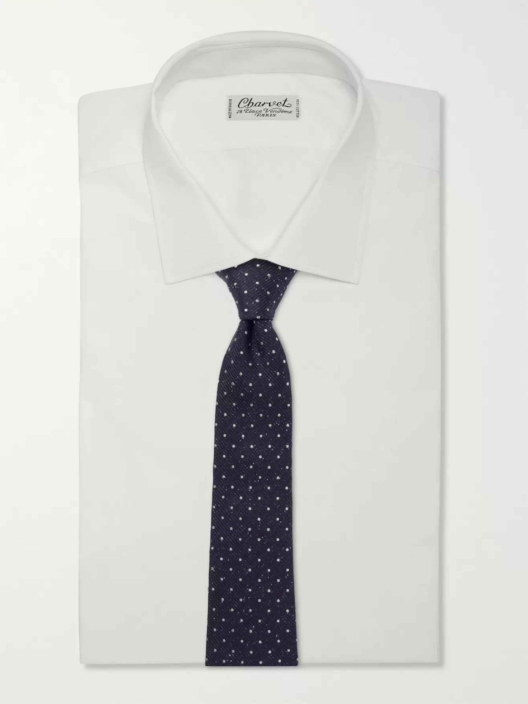 Canali 8cm Polka-Dot Silk and Virgin Wool-Blend Tie