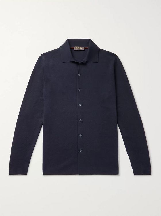 Loro Piana Empire Slim-Fit Knitted Wish Virgin Wool Shirt