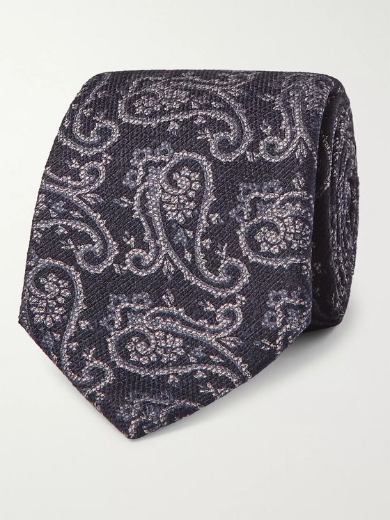Etro 8cm Paisley Woven Silk and Wool-Blend Tie
