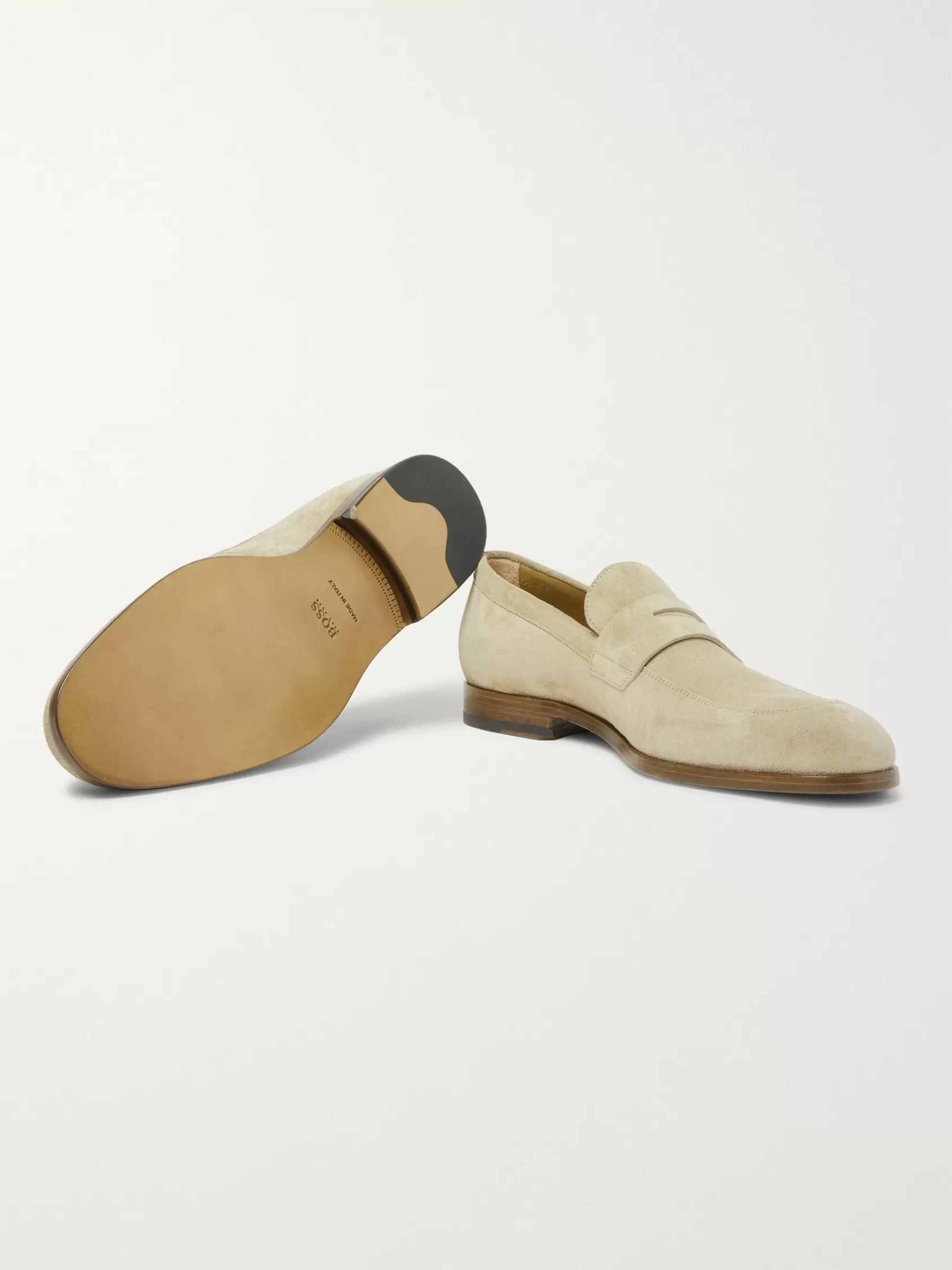 Hugo Boss Brighton Suede Penny Loafers