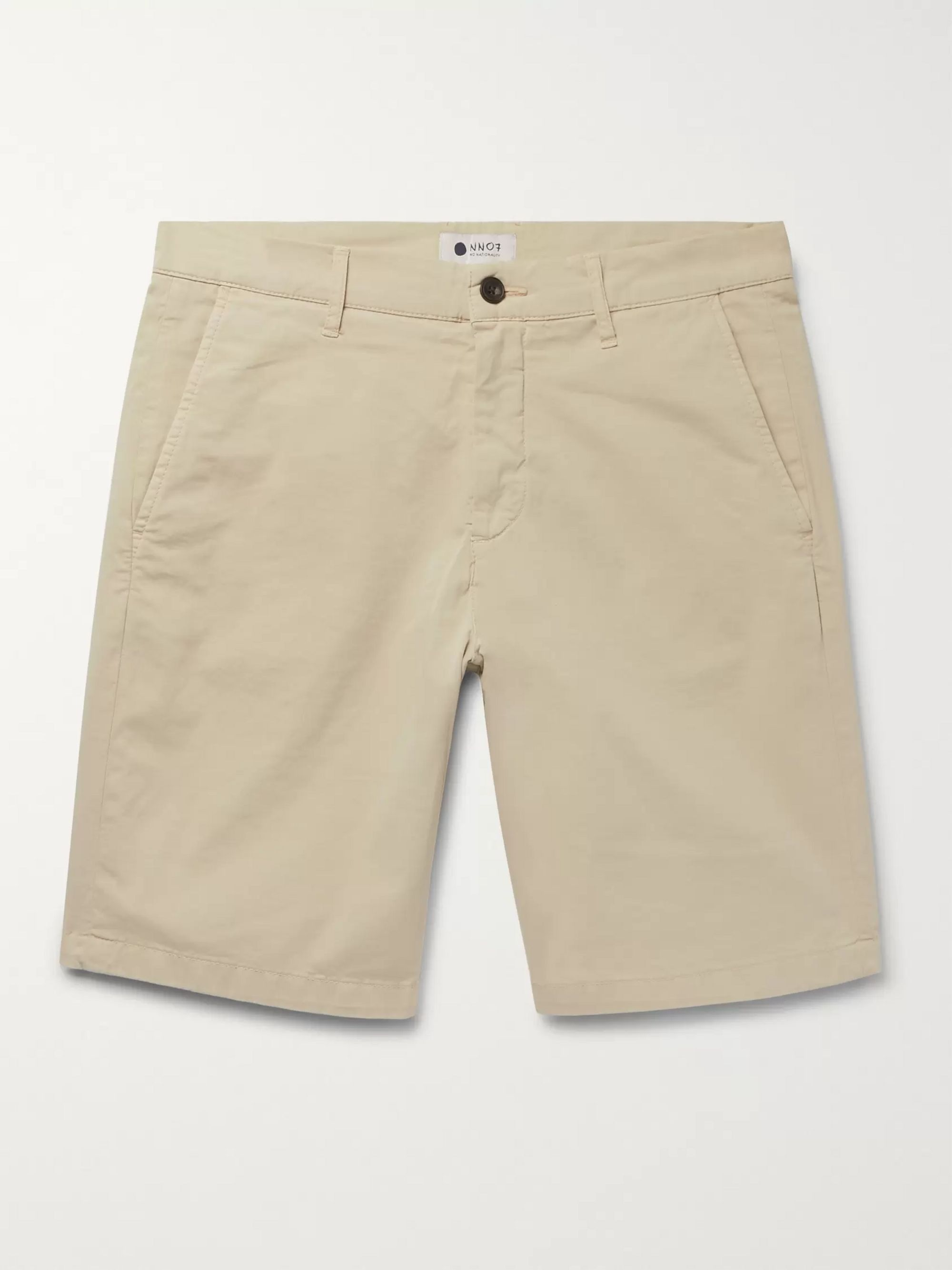 NN07 Crown Garment-Dyed Stretch-Cotton Twill Shorts
