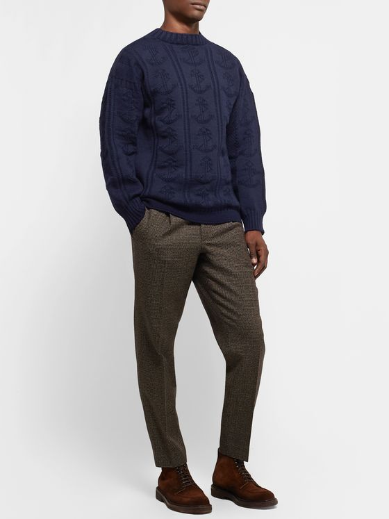 Drake's Anchor Wool Sweater