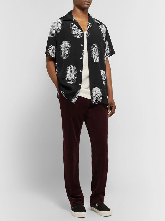 Wacko Maria + Neck Face Camp-Collar Printed Matte-Satin Shirt