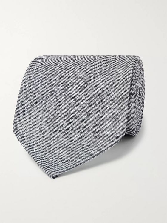Rubinacci Striped Linen Tie