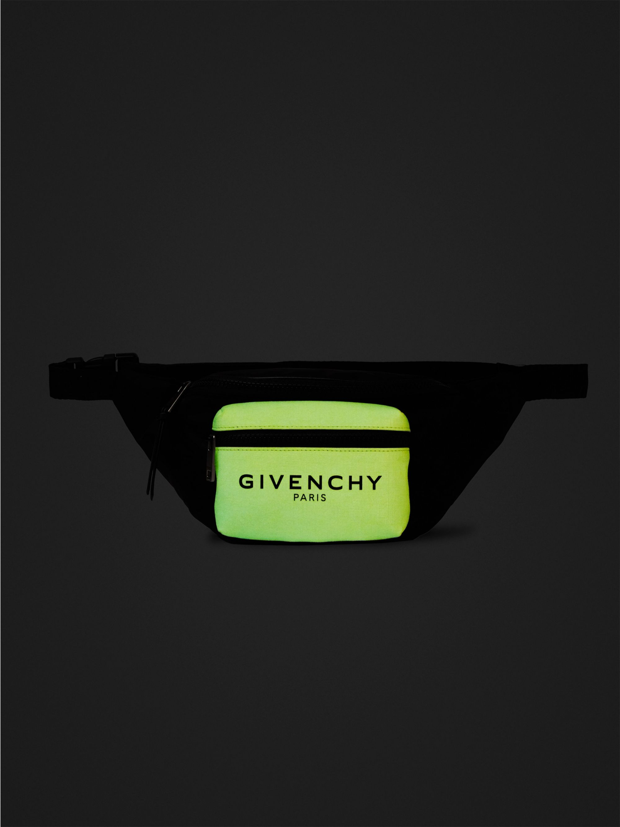 Givenchy Logo-Print Glow-in-the-Dark Canvas and Shell Belt Bag