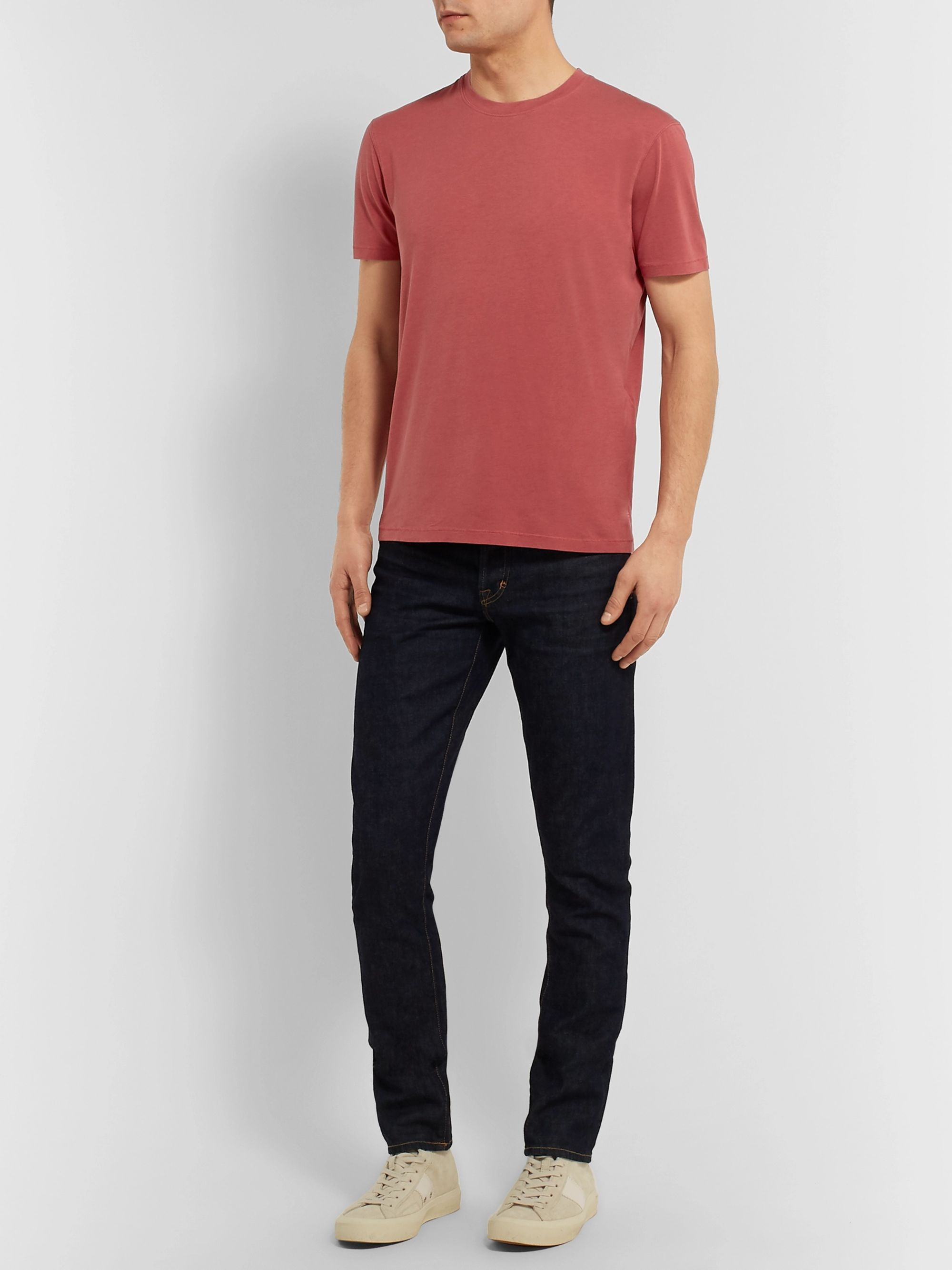 TOM FORD Lyocell and Cotton-Blend Jersey T-Shirt