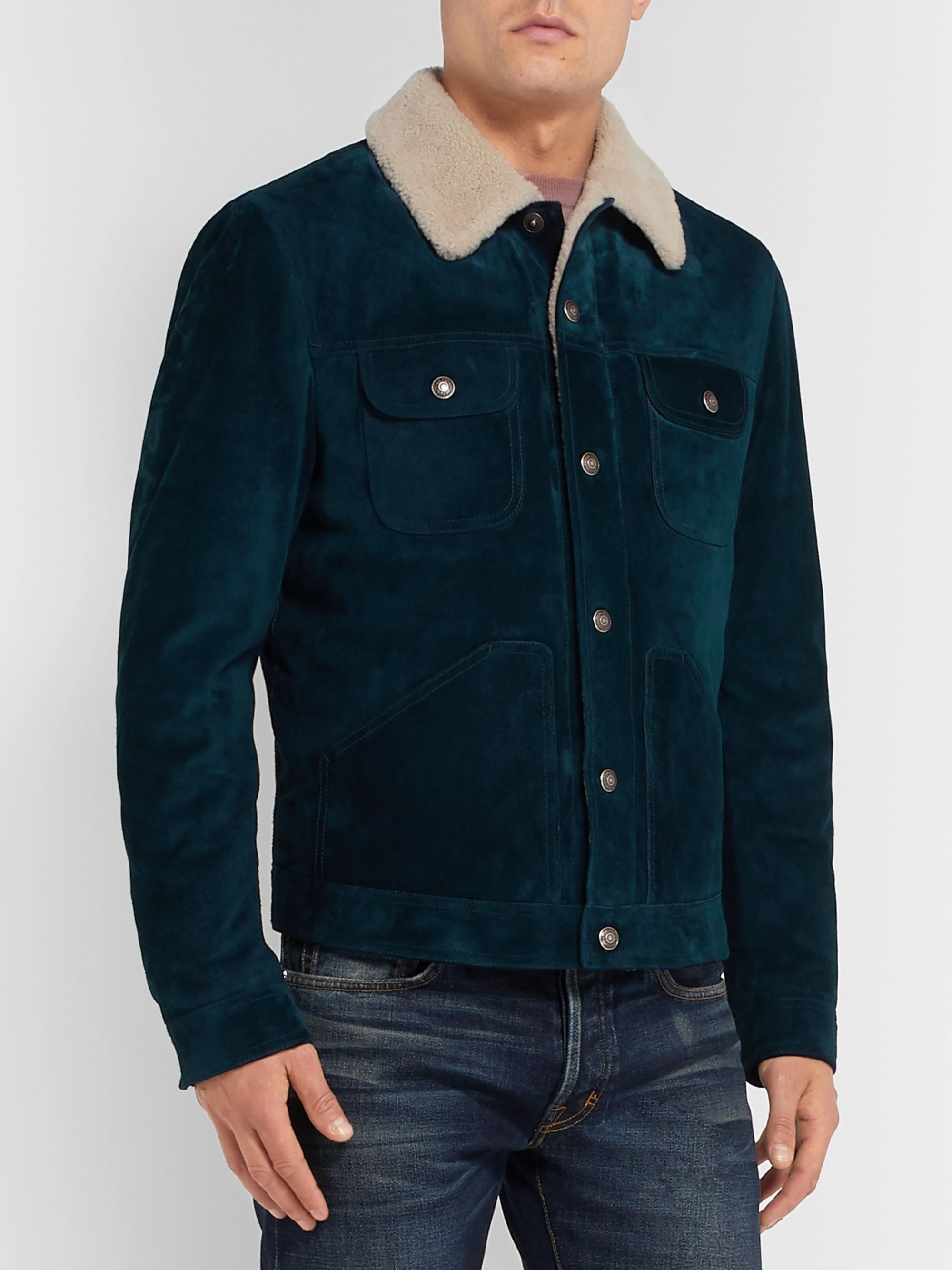 TOM FORD Shearling Trucker Jacket