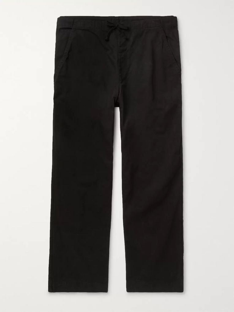 Save Khaki United Black Easy Cotton-Twill Drawstring Chinos