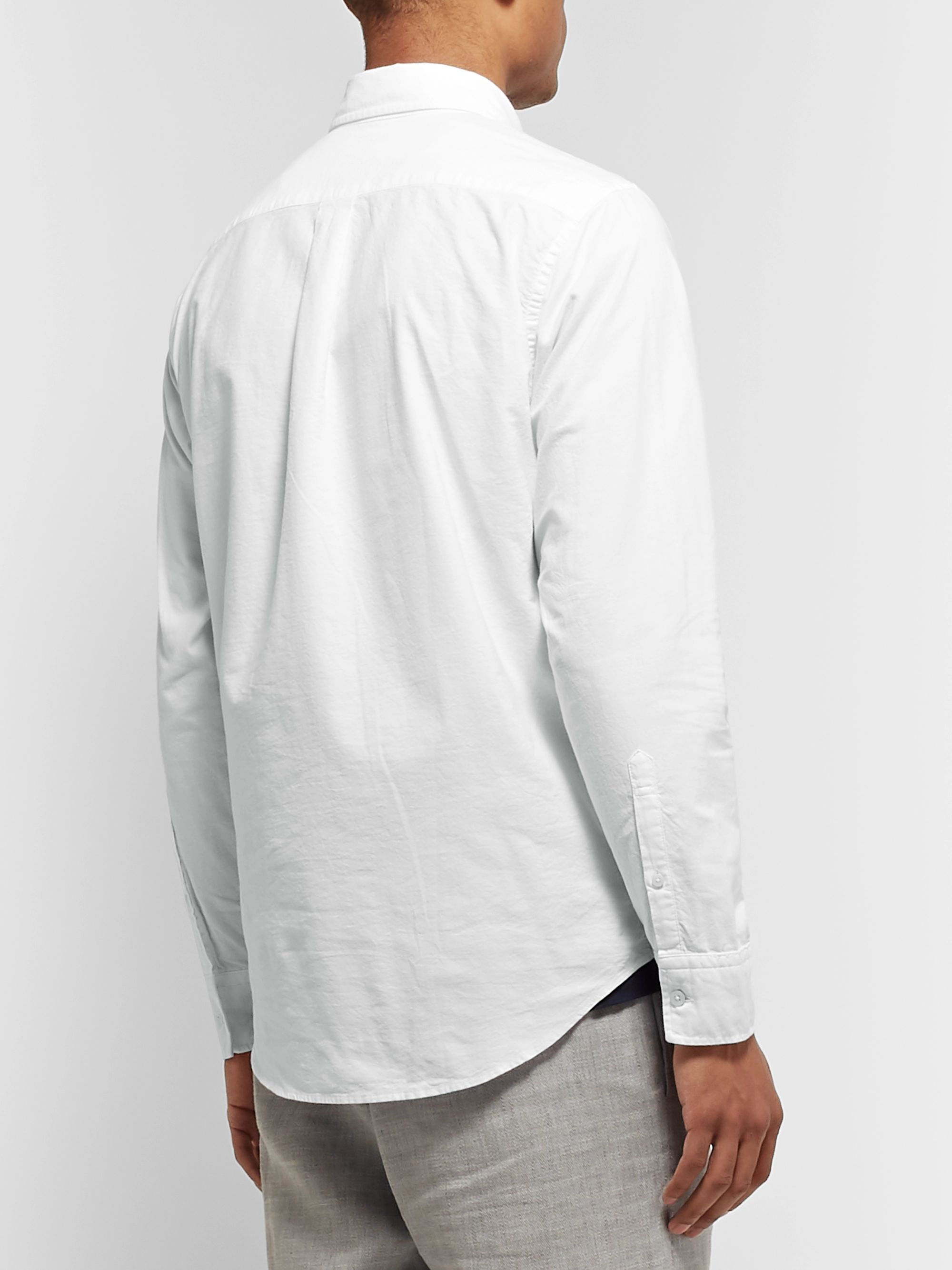 White Levon Button-down Collar Cotton Oxford Shirt | Nn07