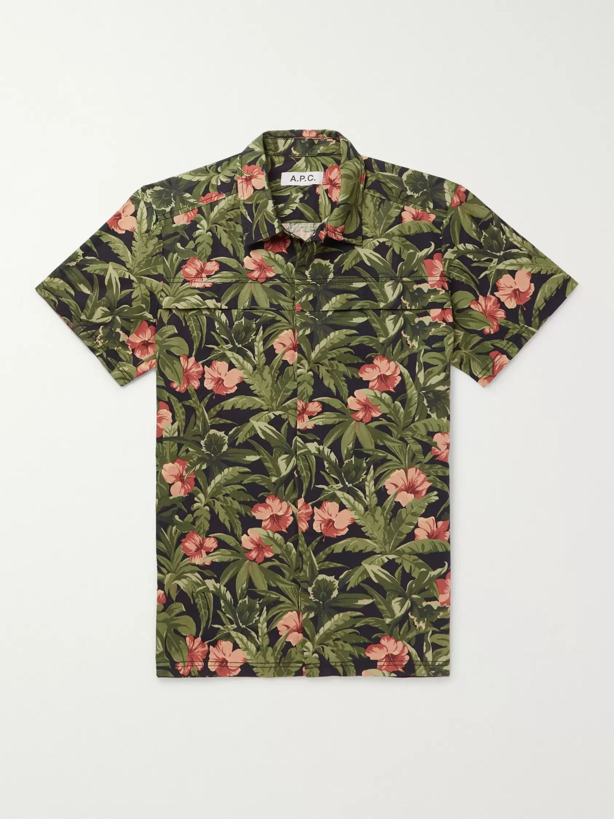 A.P.C. Midway Slim-Fit Printed Cotton-Ripstop Shirt
