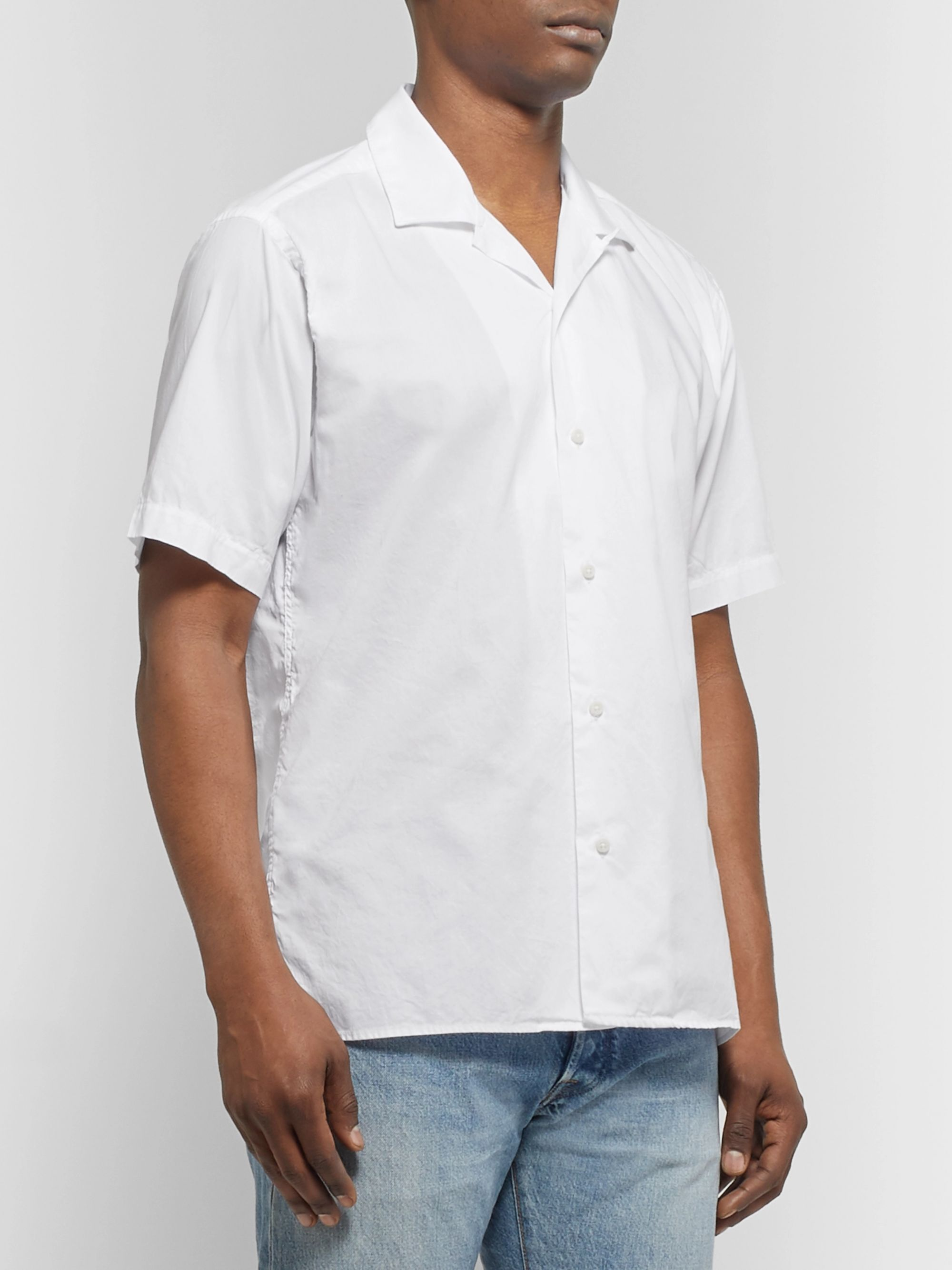 Gitman Vintage Camp-Collar Cotton Oxford Shirt
