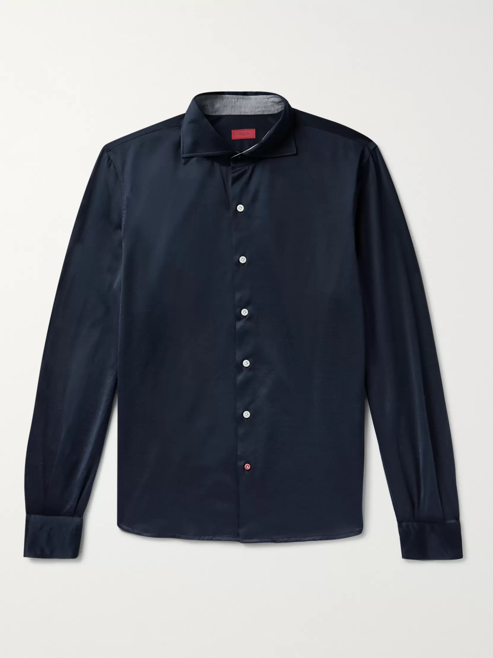 Isaia Slim-Fit Cotton-Jersey Shirt