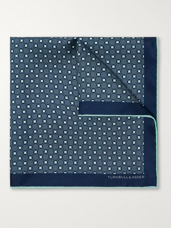 Kingsman + Turnbull & Asser Rocketman Printed Silk-Twill Pocket Square