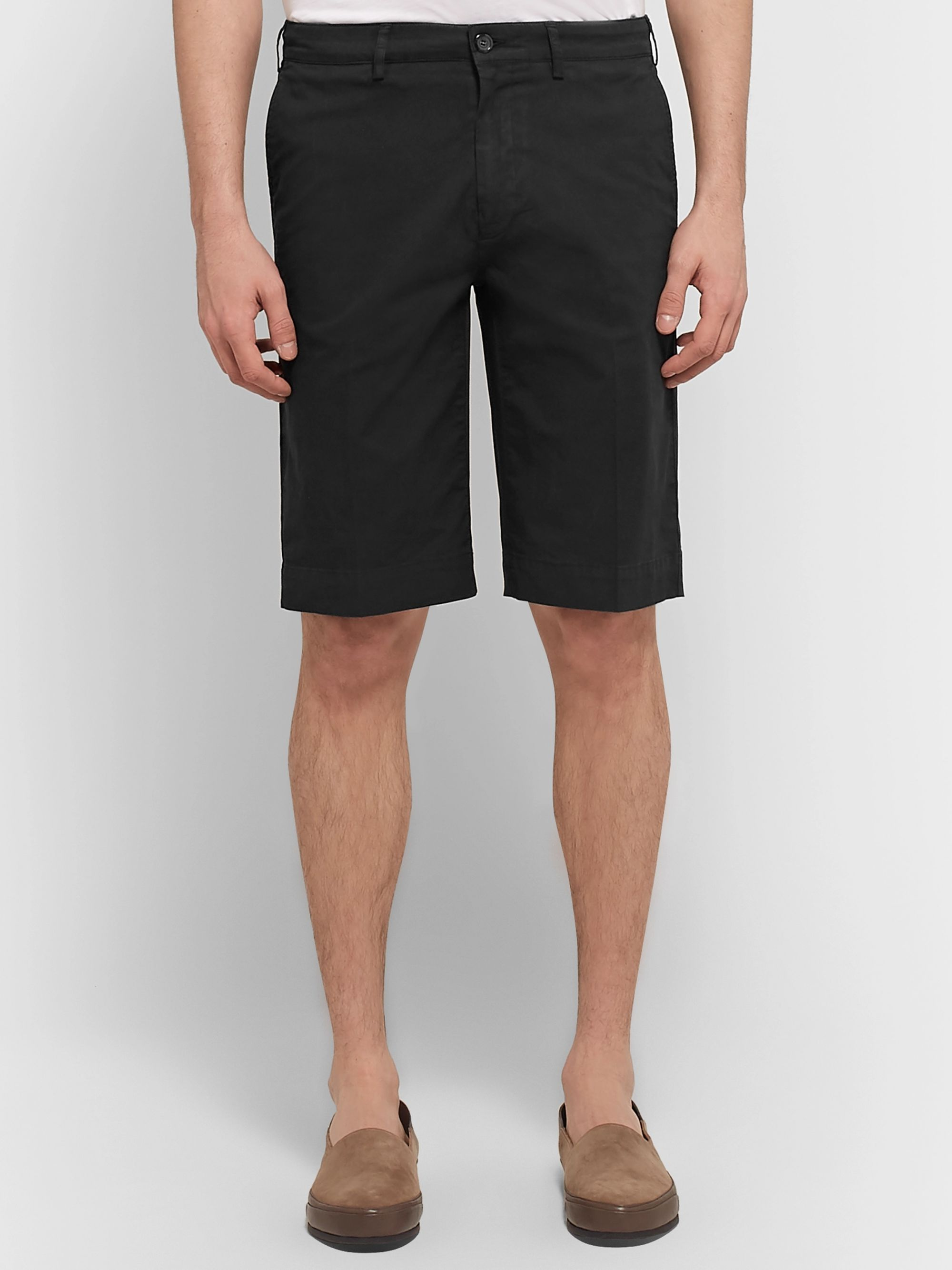 Canali Cotton-Blend Twill Shorts