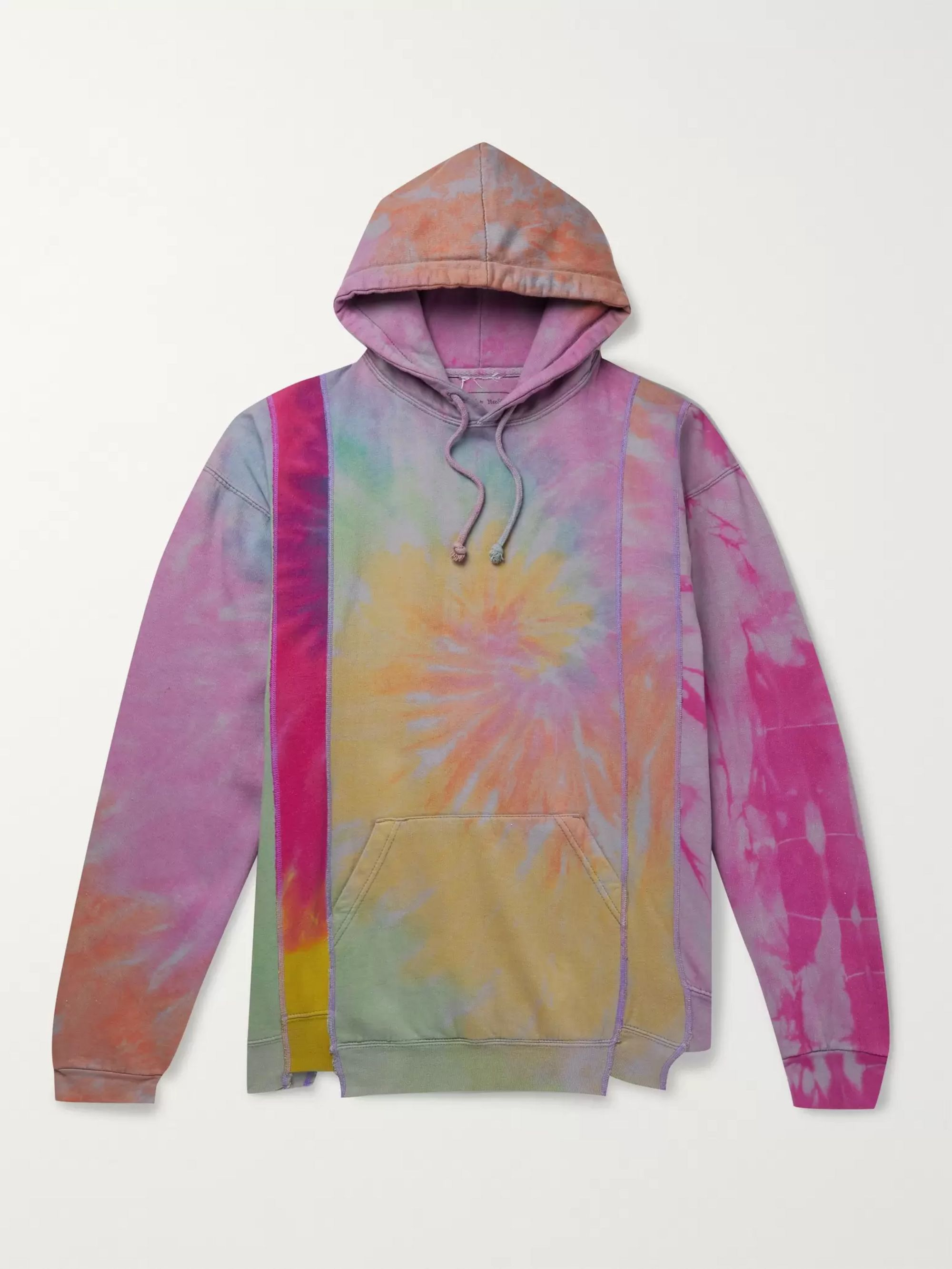 Needles Oversized Tie-Dyed Fleece-Back Cotton-Jersey Hoodie