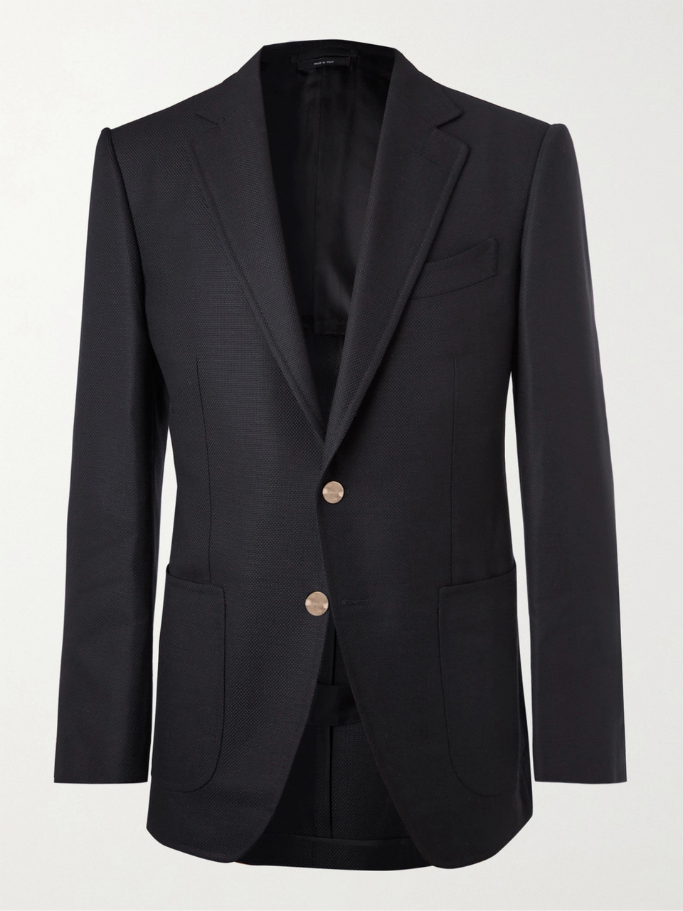 TOM FORD Midnight-Blue O'Connor Slim-Fit Wool and Mohair-Blend Hopsack Blazer