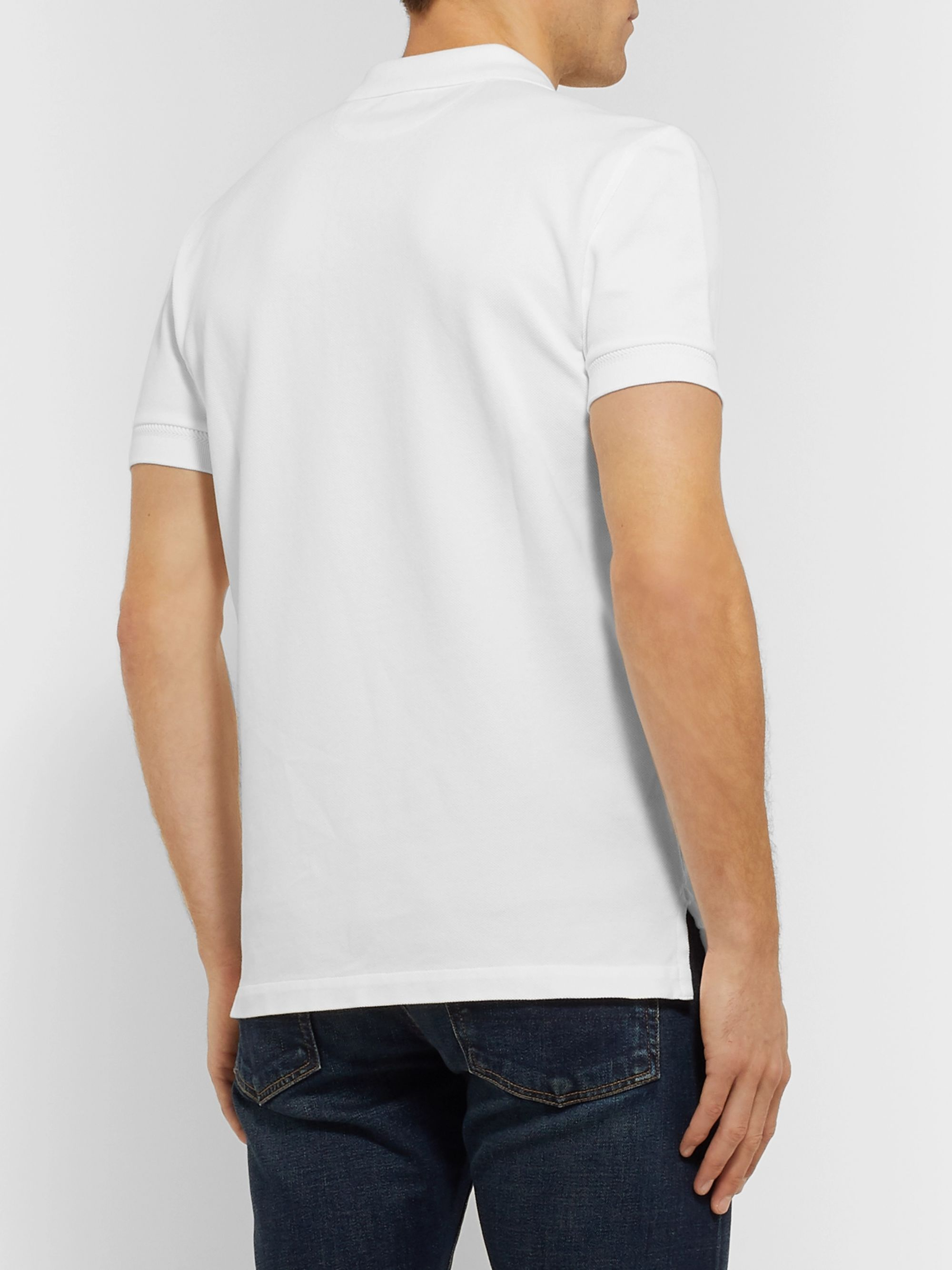 TOM FORD Slim-Fit Garment-Dyed Cotton-Piqué Polo Shirt