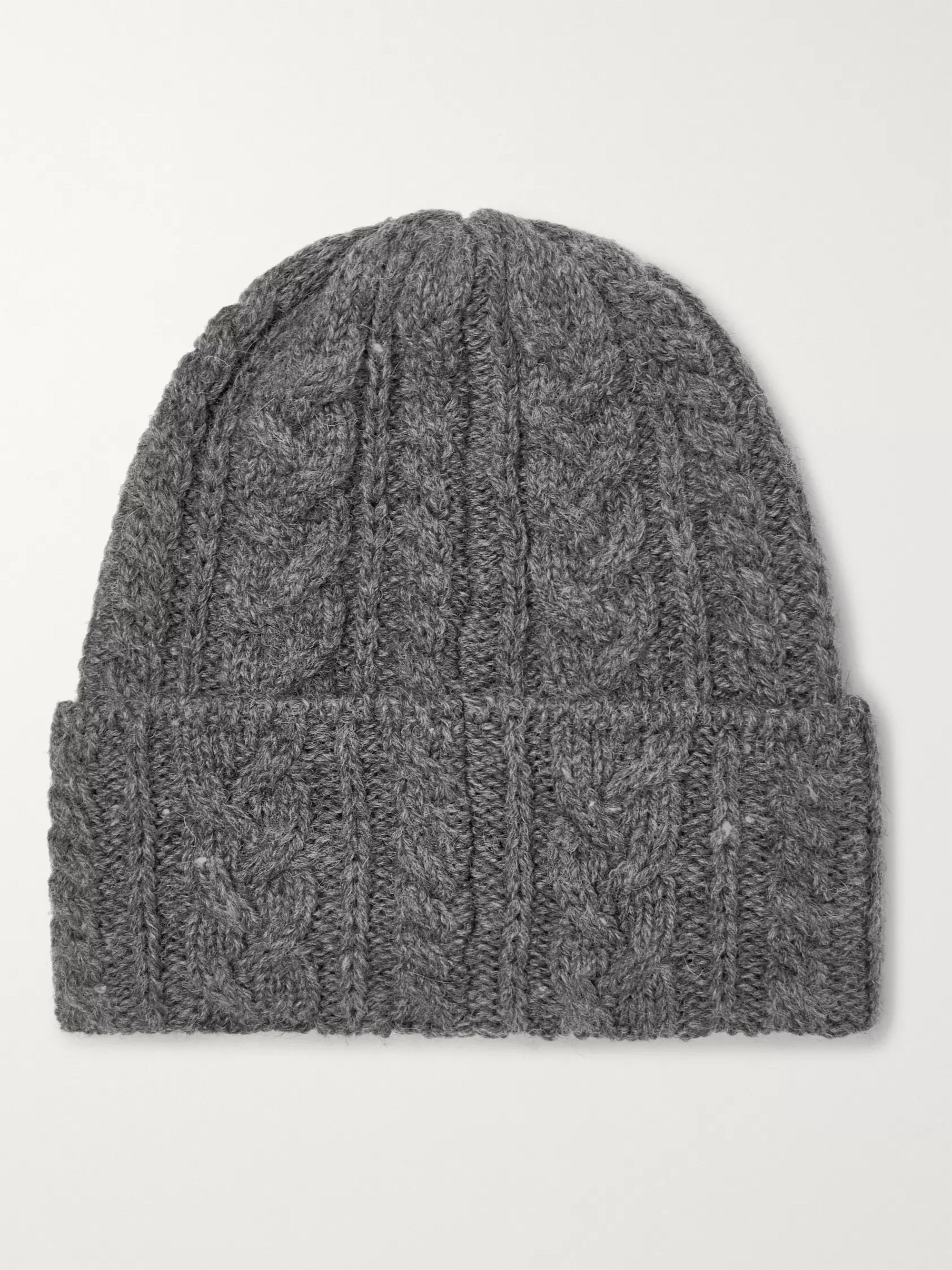 Drake's Cable-Knit Wool Beanie