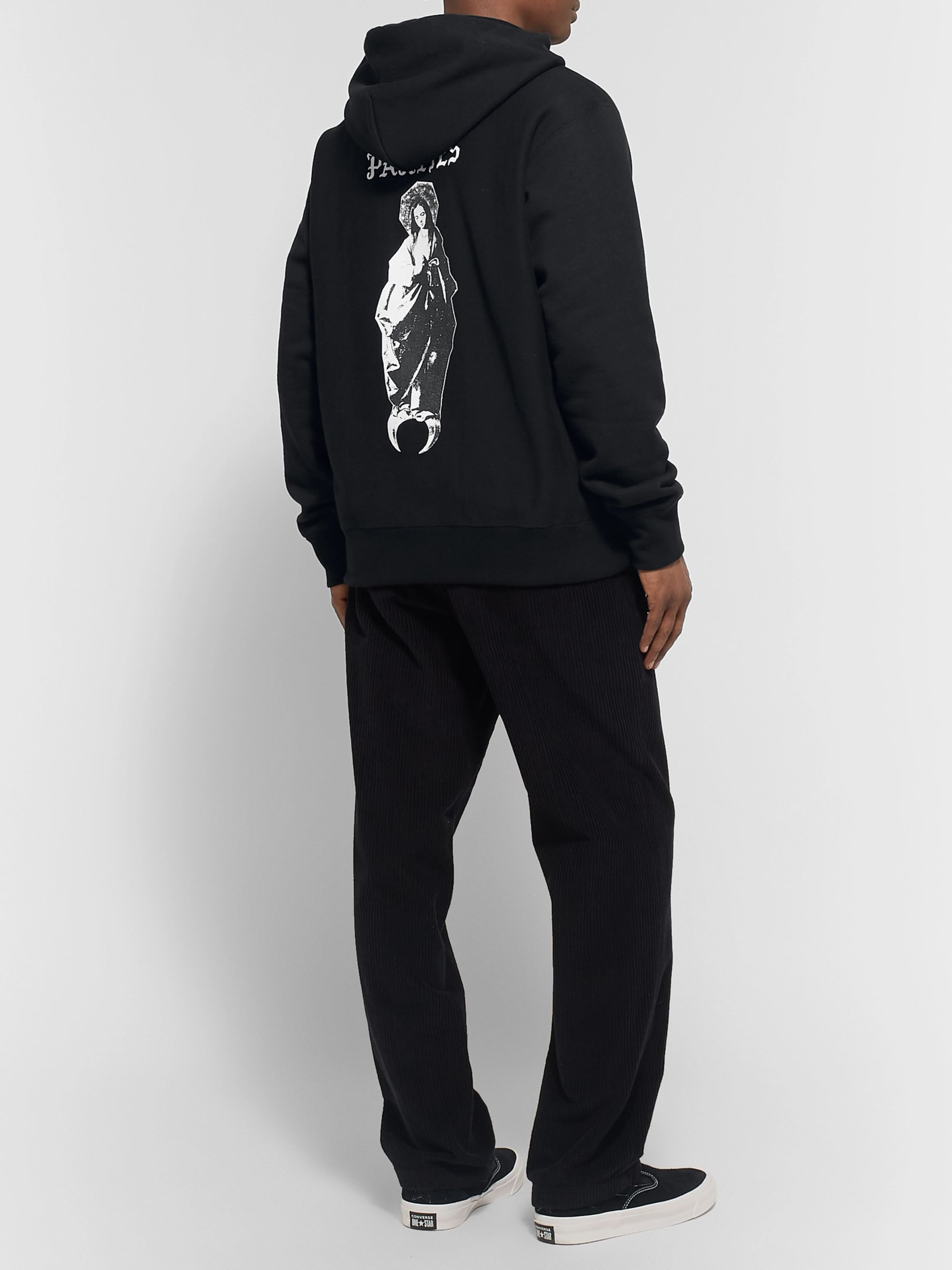 Wacko Maria Printed Fleece-Back Cotton-Jersey Hoodie