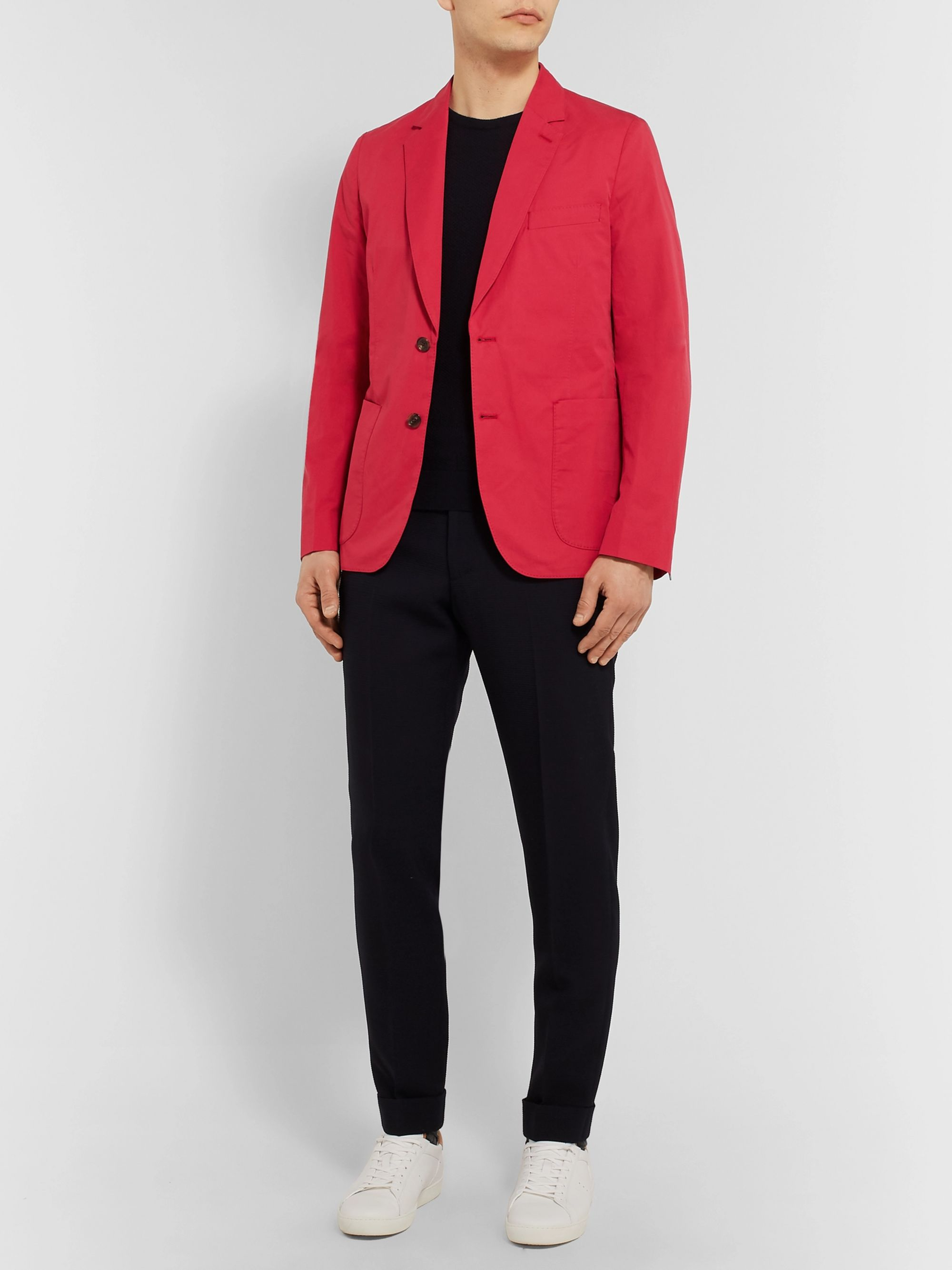 Paul Smith Red Soho Slim-Fit Unstructured Cotton Blazer