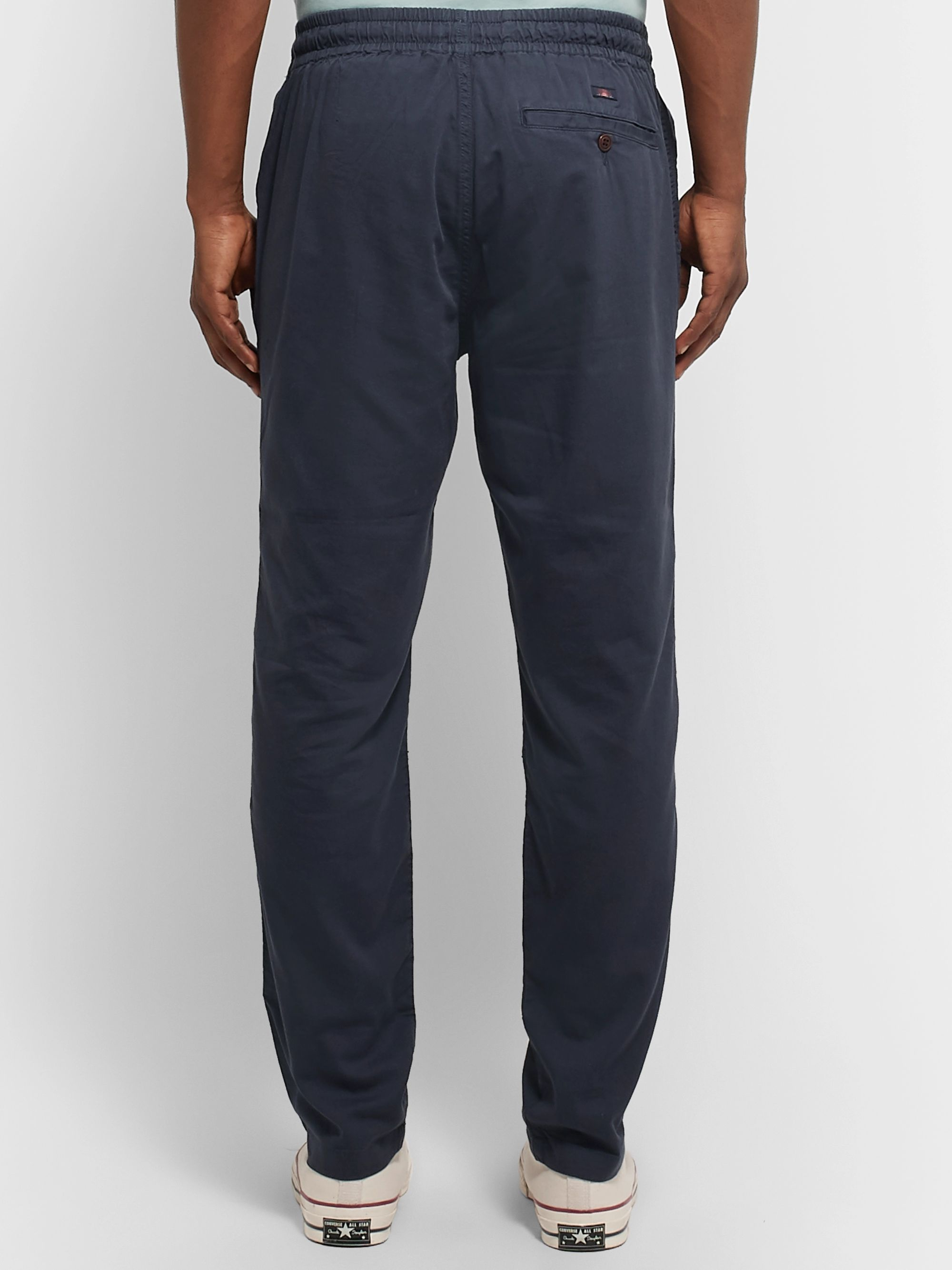 Faherty Marty Cotton and Lyocell-Blend Drawstring Trousers