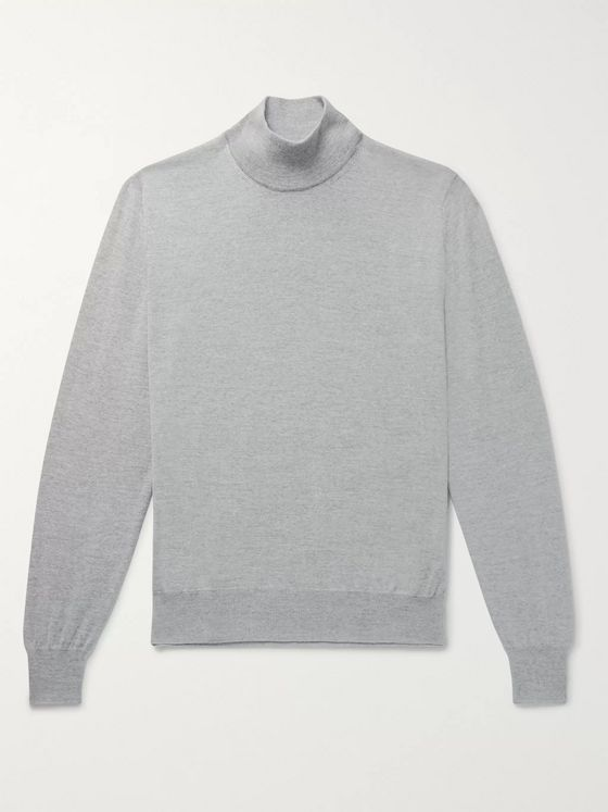 Canali Slim-Fit Merino Wool Mock-Neck Sweater