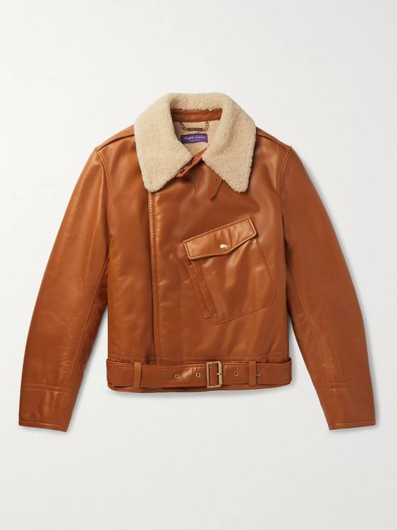 Ralph Lauren Purple Label Camber Shearling Aviator Jacket