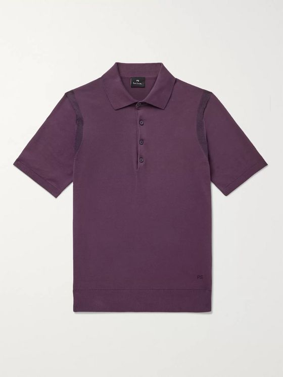 PS Paul Smith Knitted Cotton Polo Shirt