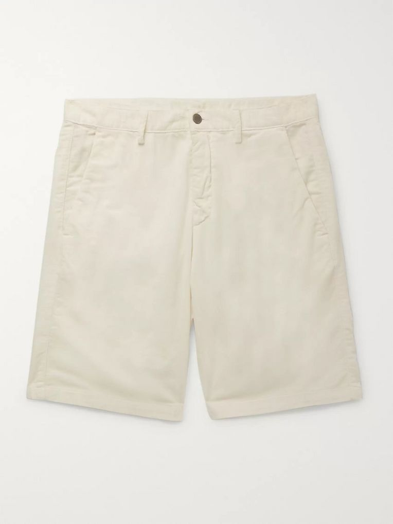 Massimo Alba Watercolour-Dyed Cotton-Corduroy Shorts