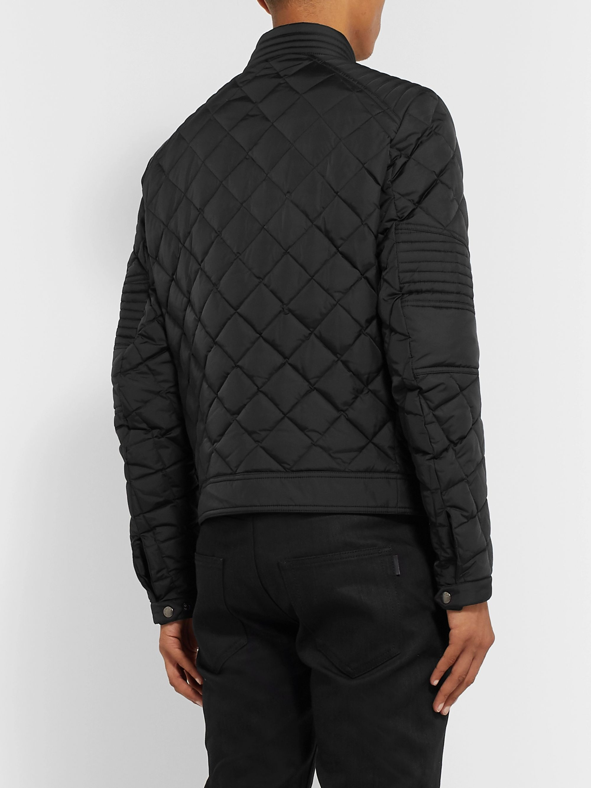 Moncler Breitman Quilted Shell Down Biker Jacket