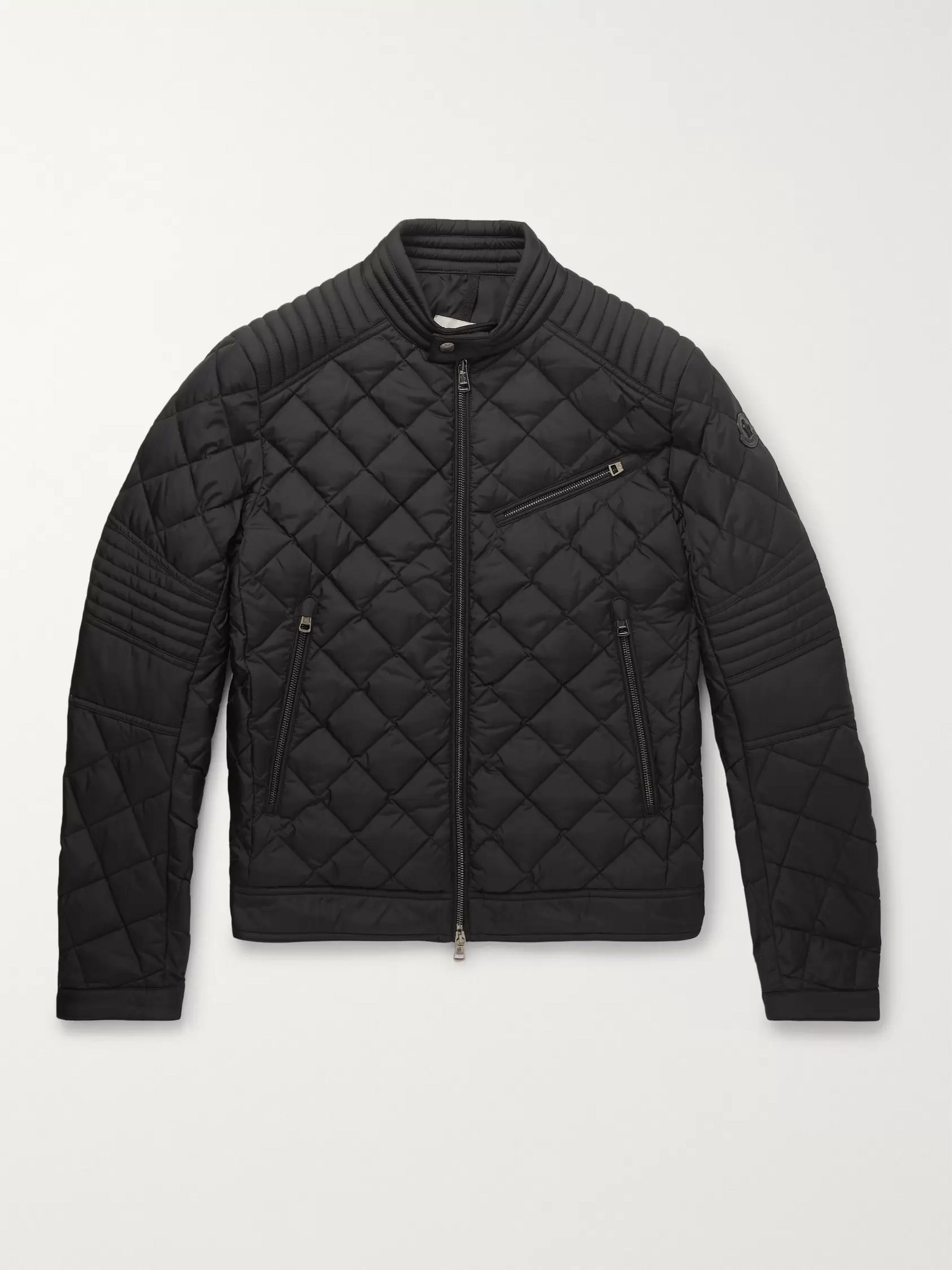 Breitman Quilted Shell Down Biker Jacket by Moncler