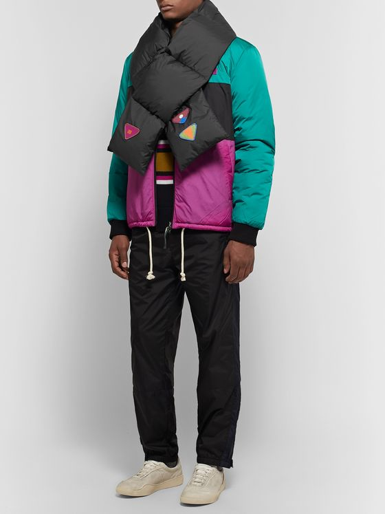 Acne Studios Vexter Appliquéd Quilted Shell Down Scarf