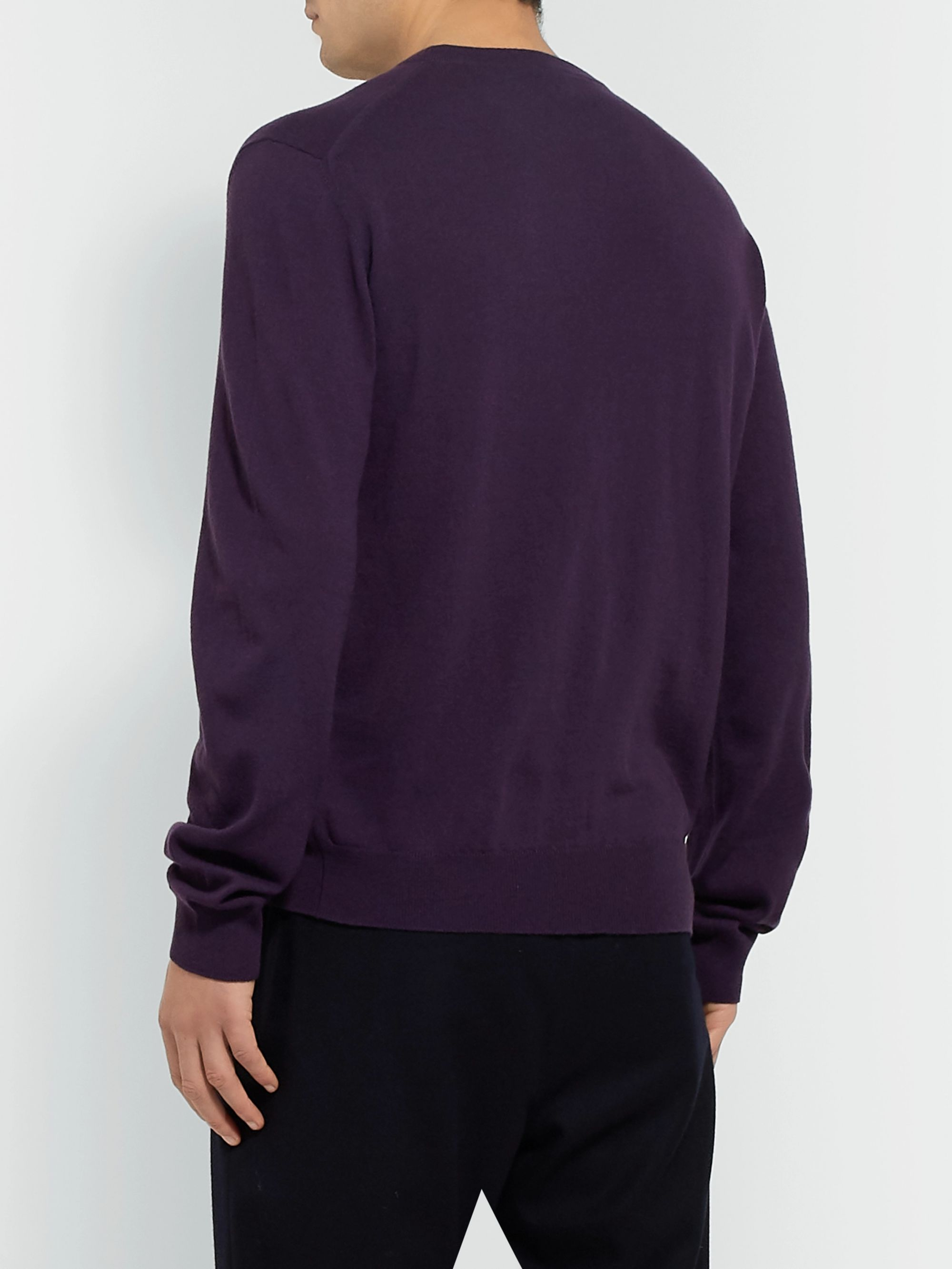 Berluti Cashmere and Mulberry Silk-Blend Sweater