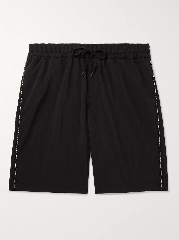 0a12dfc5 Long-Length Logo-Print Swim Shorts